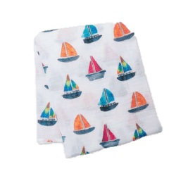Muslin Swaddle Sailboat
