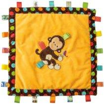 TAGGIES Dazzle Dots Monkey Cozy Blanket – 16″ x 16″