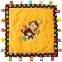 TAGGIES Dazzle Dots Monkey Cozy Blanket – 16″ x 16″