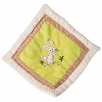 TAGGIES Oatmeal Bunny Cozy Blanket – 16″ x 16″