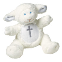 Christening Lamb Rattle – 5″