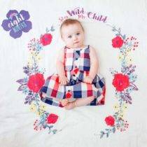 Baby's First Year blanket & cards sets Stay Wild My Child