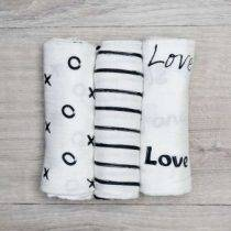 Mini Muslin – 3 Pack Black & White