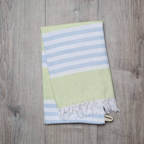 Turkish Towel – Lime Green & Blue